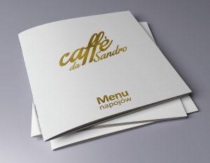 Caffe da Sandro - menu napojów
