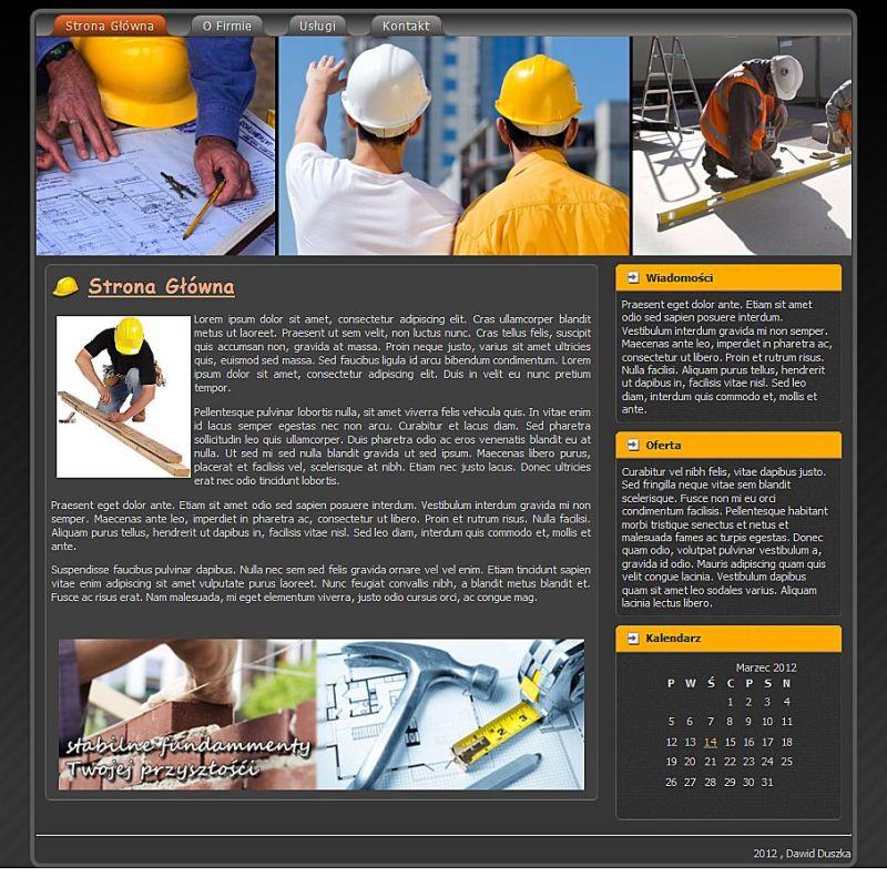 Firma Budowlna - szablon strony www