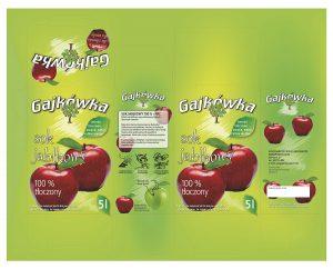 Gajkówka - karton sok jabłkowy
