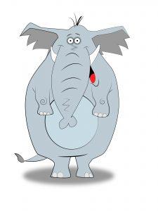 Ilustracja słonia