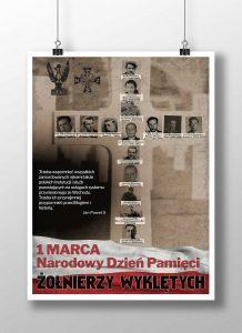 Projekt plakatu Narodowy Dzien Pamieci Zolnierzy Wykletych