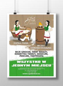 Spa Beskid - projekt ilustracji i plakatu