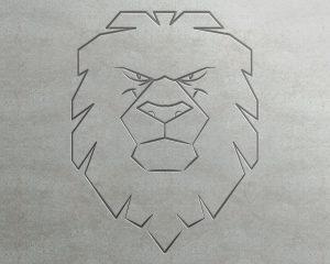 Szkic logo głowa lwa