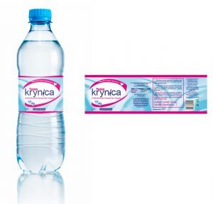 Twoja Krynica - etykieta na wodę mineralnę