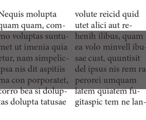 Czarne teksty z czterech kolorów