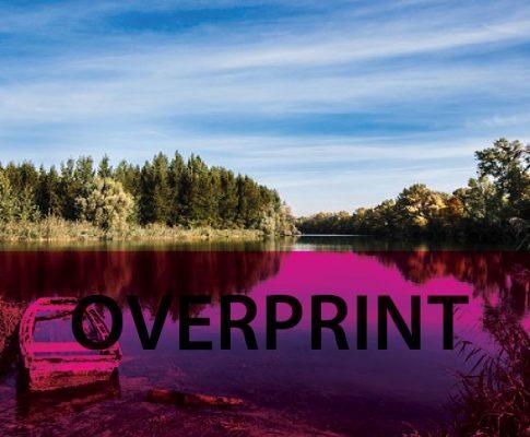 Co to jest overprint, nadruk?