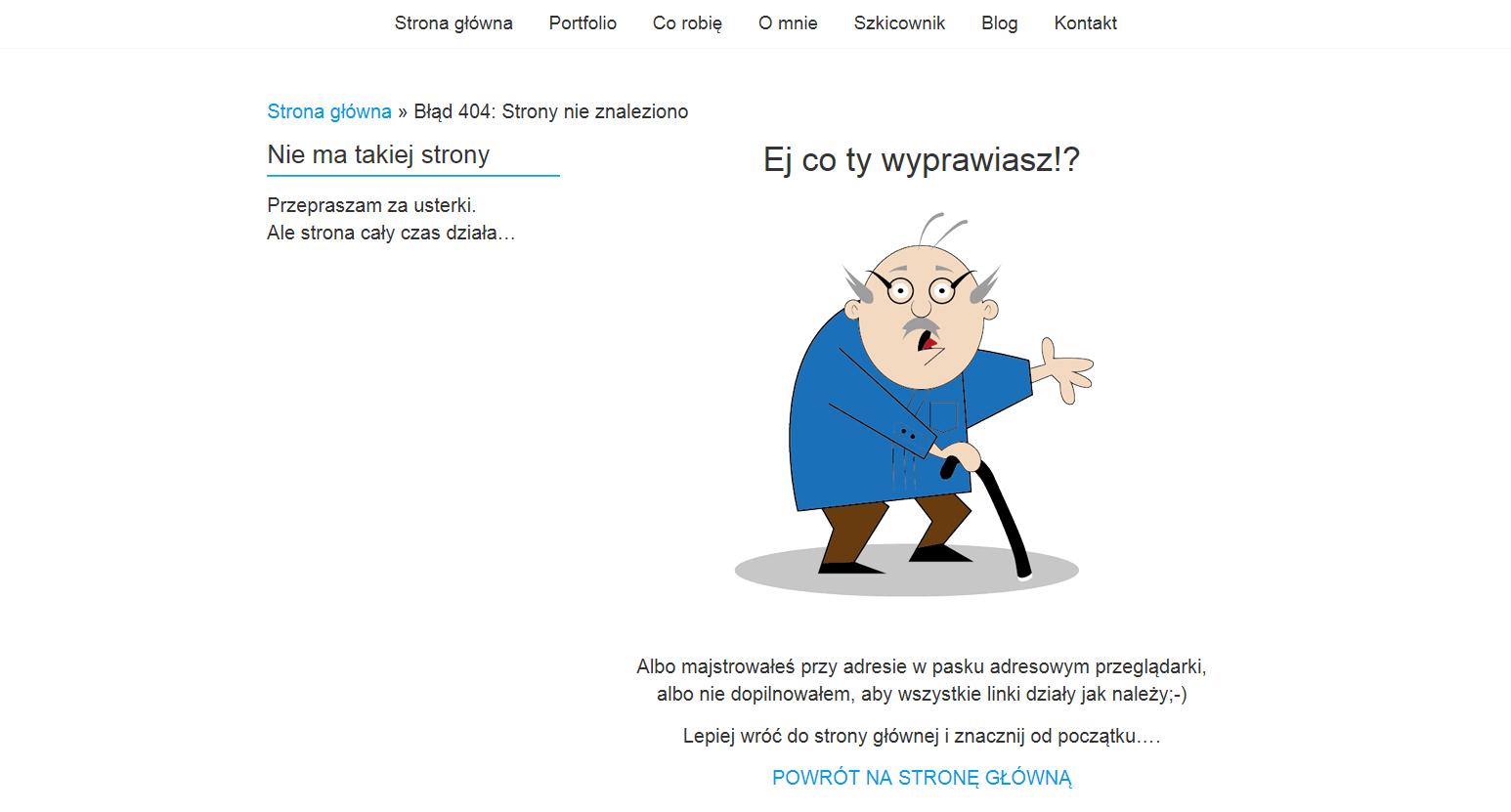 Strona błędu 404