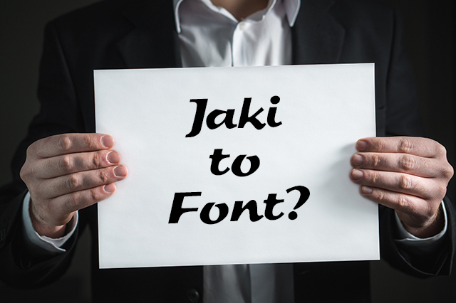 Jaki to font