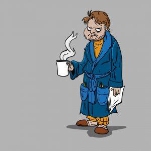 Facet z kawa - ilustracja cyfrowa