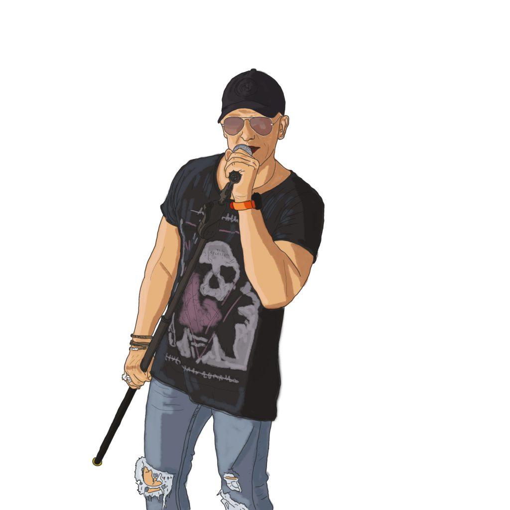 Ilustracja wokalisty