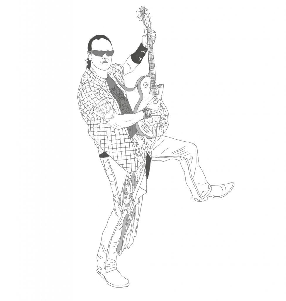 Szkic gitarzysty