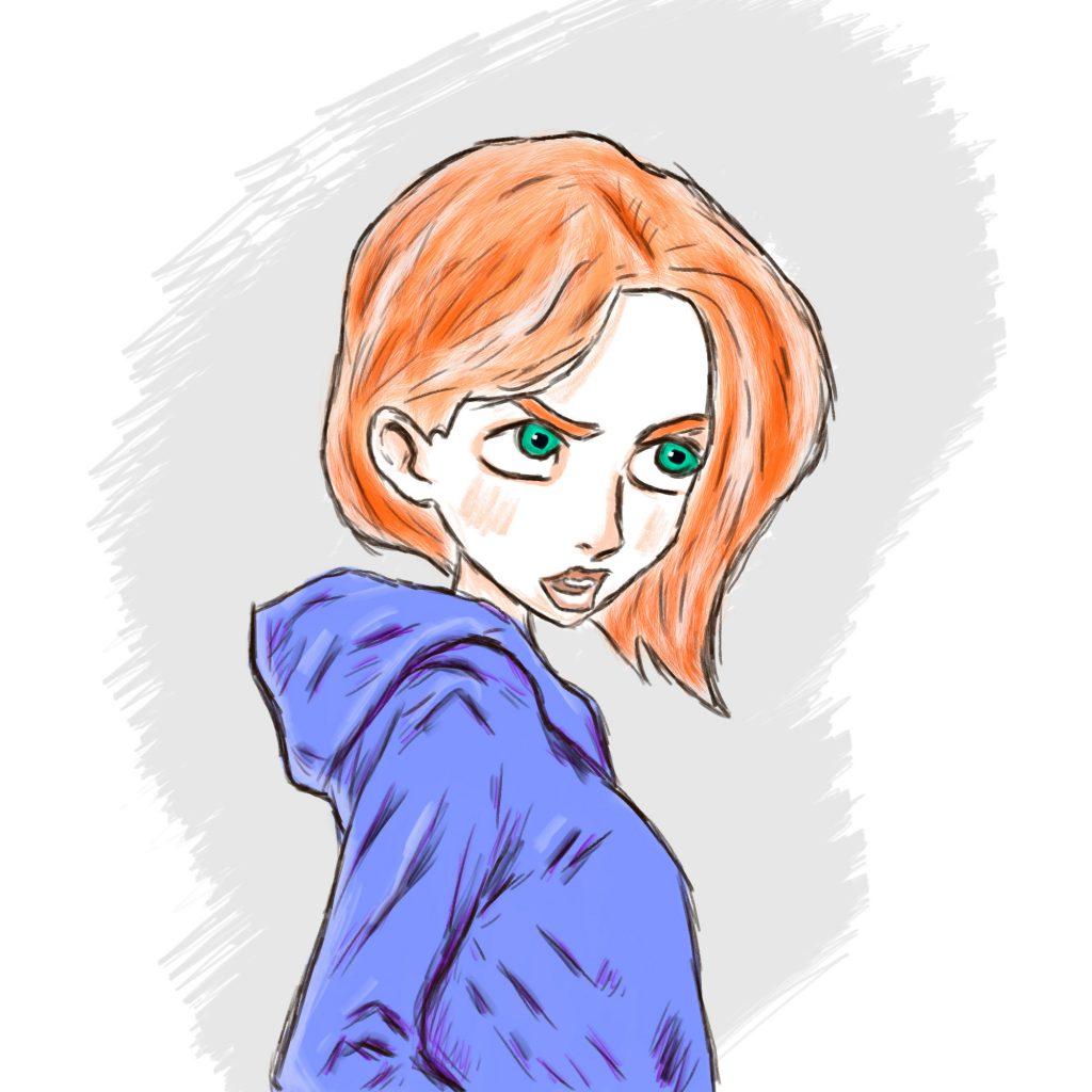 Nastolatka - ilustracja