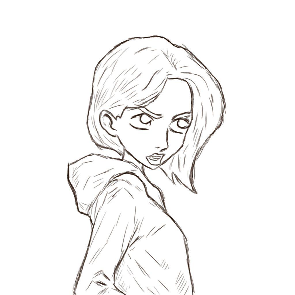 Nastolatka - szkic
