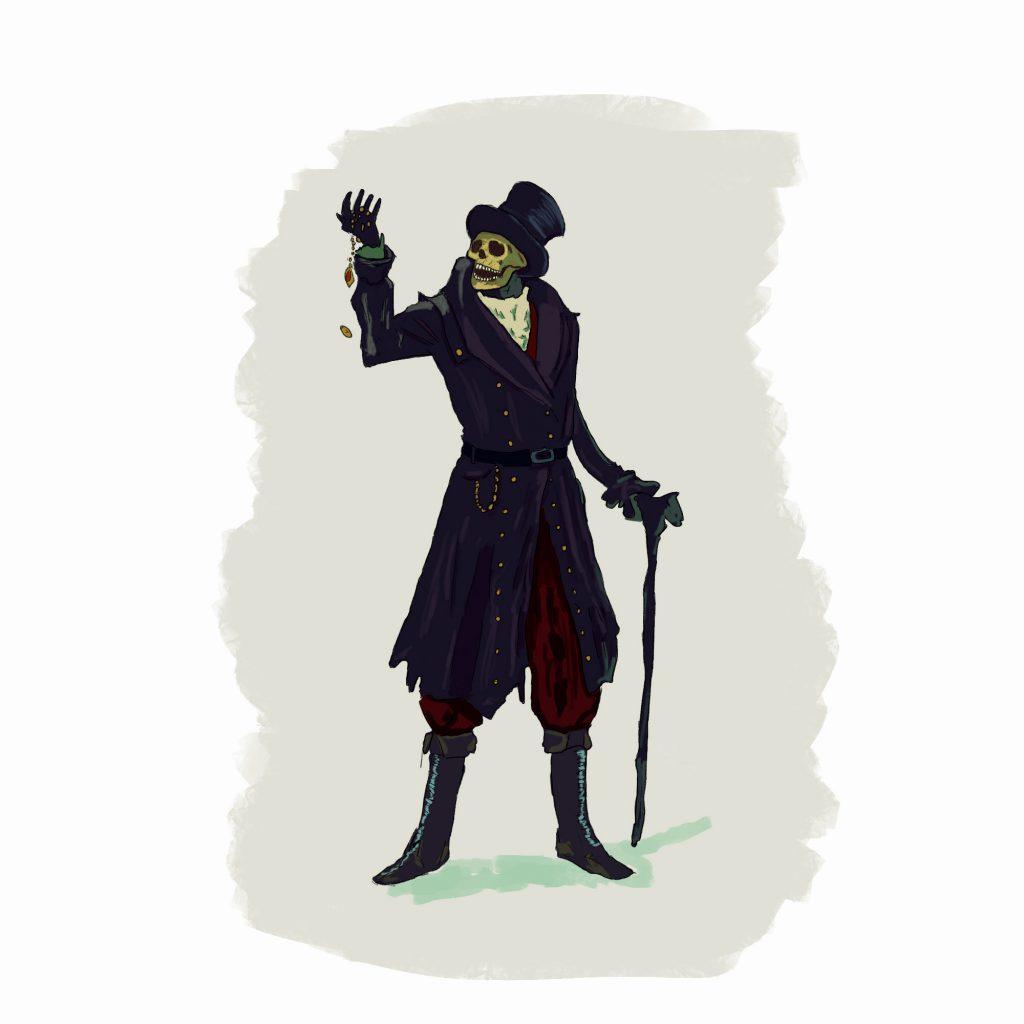 Necromancer - ilustracja cyfrowa