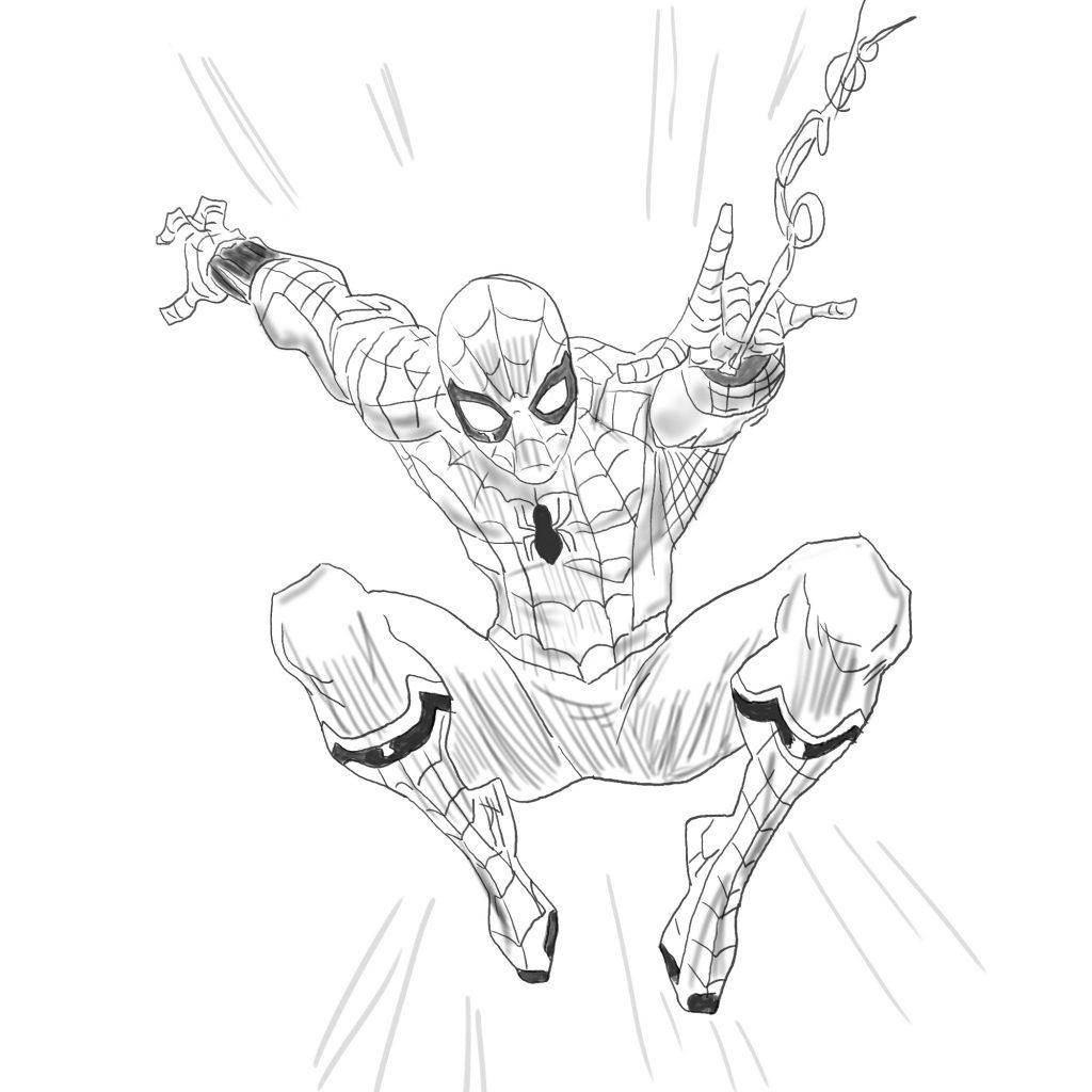 spiderman - szkic