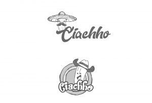 Wstępny szkic logo dla firmy tworzącej słodkości
