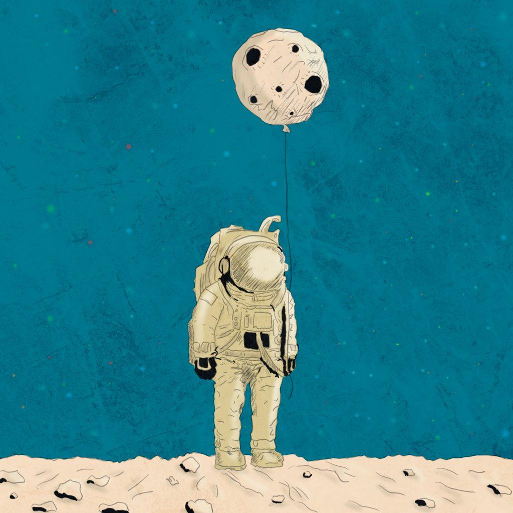 Pan astronauta – ilustracja