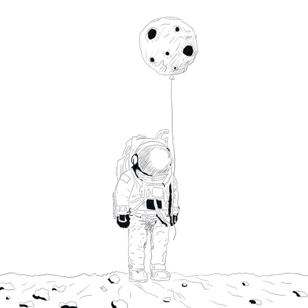 Pan astronauta – szkic