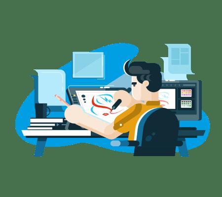 Grafik komputerowy freelancer ilustrator