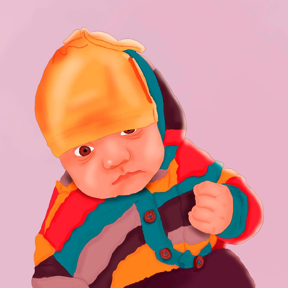 Dziecko - cyfrowa ilustracja