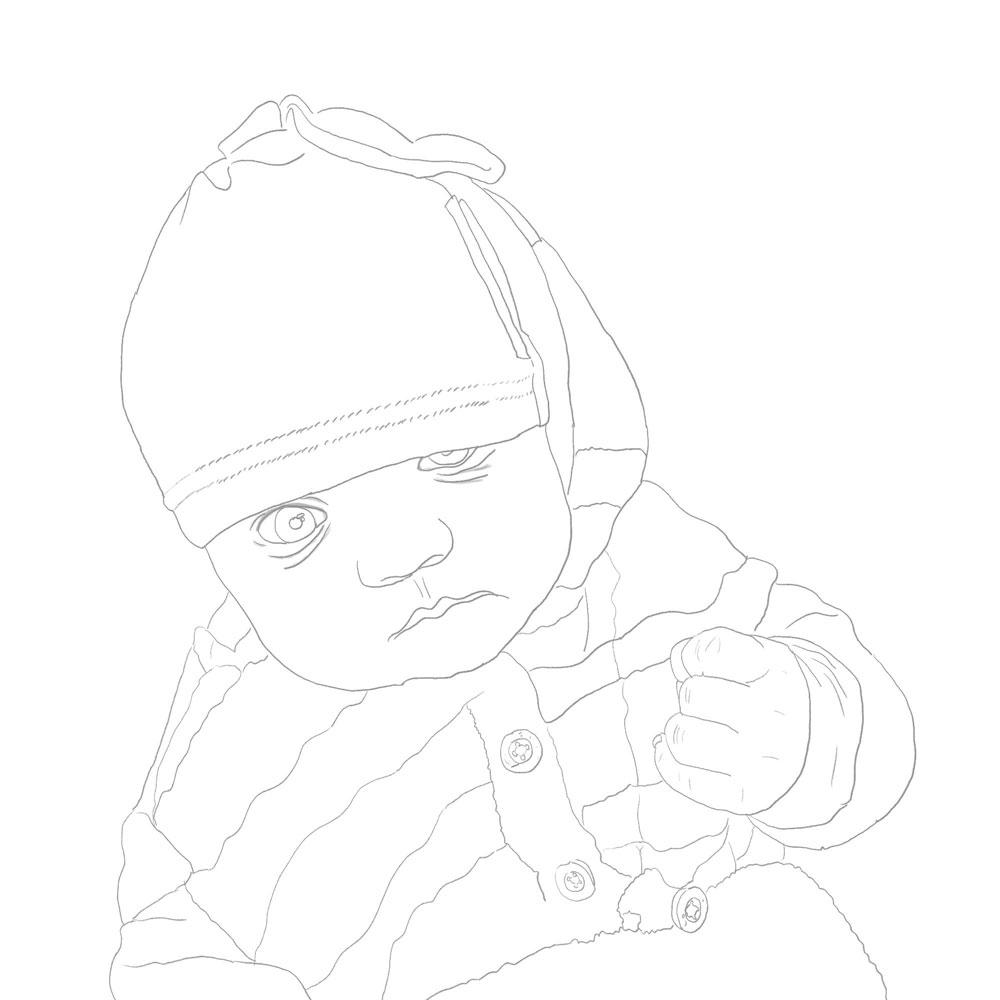 Dziecko - szkic