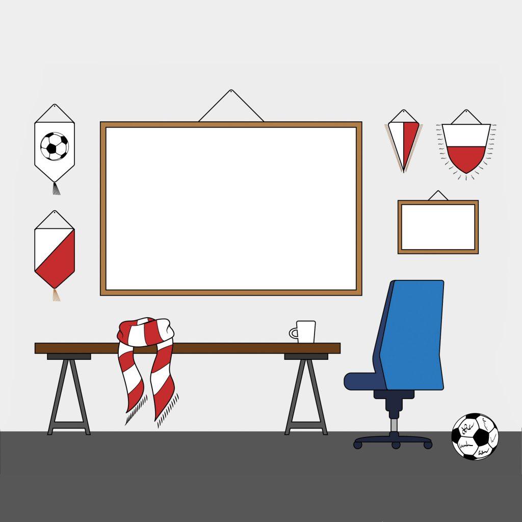 Ilustracja wektorowa pokój kibica na stronę www