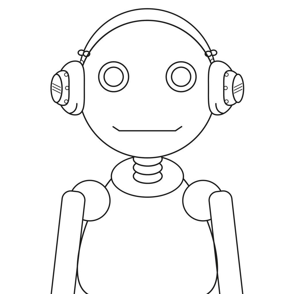 Portret robota - ilustracja szkic