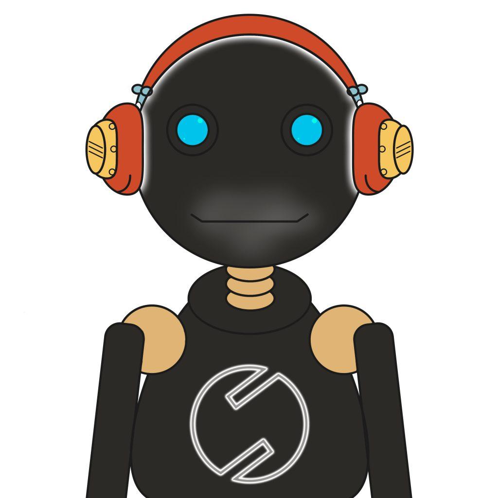 Portret robota - ilustracja wektorowa