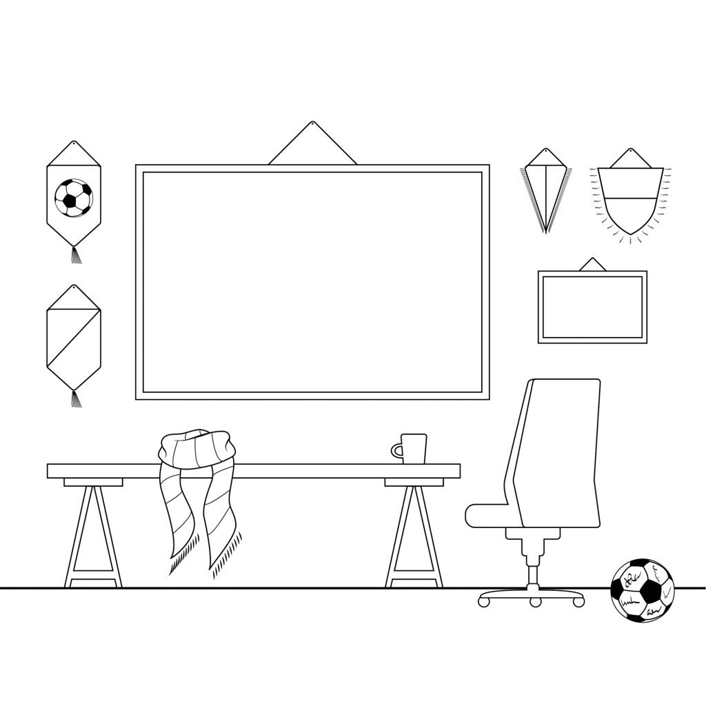 Rysunek na Rysunek pokój kibica na stronę www