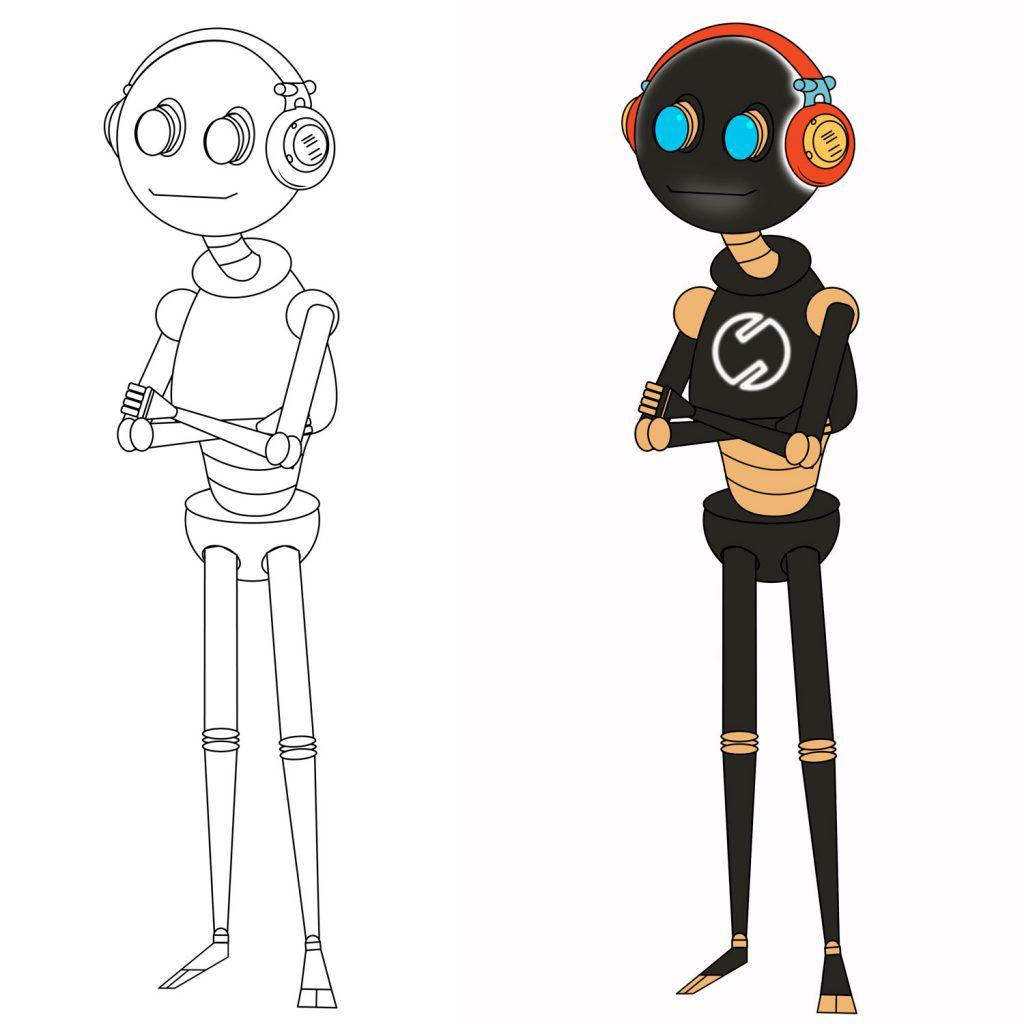 Sylwetka robota - ilustracja wektorowa