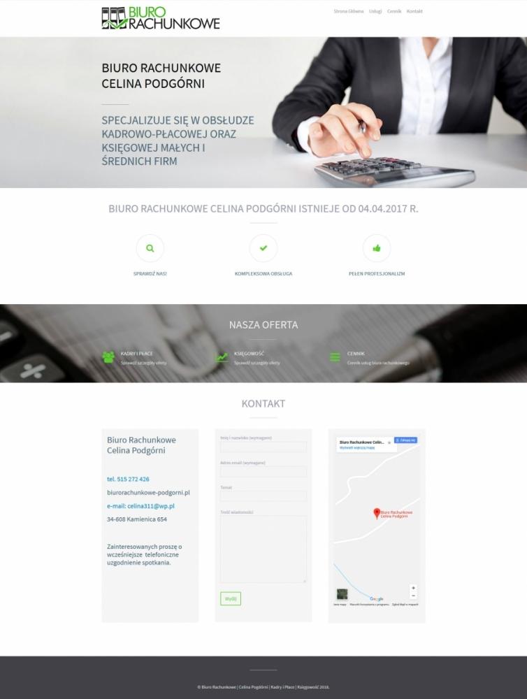Biuro Rachunkowe - szablon strony www