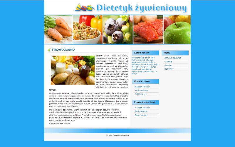 Dietetyk Żywieniowy - szablon strony www