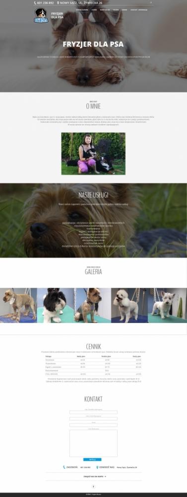 Fryzjer dla psa - szablon strony internetowej