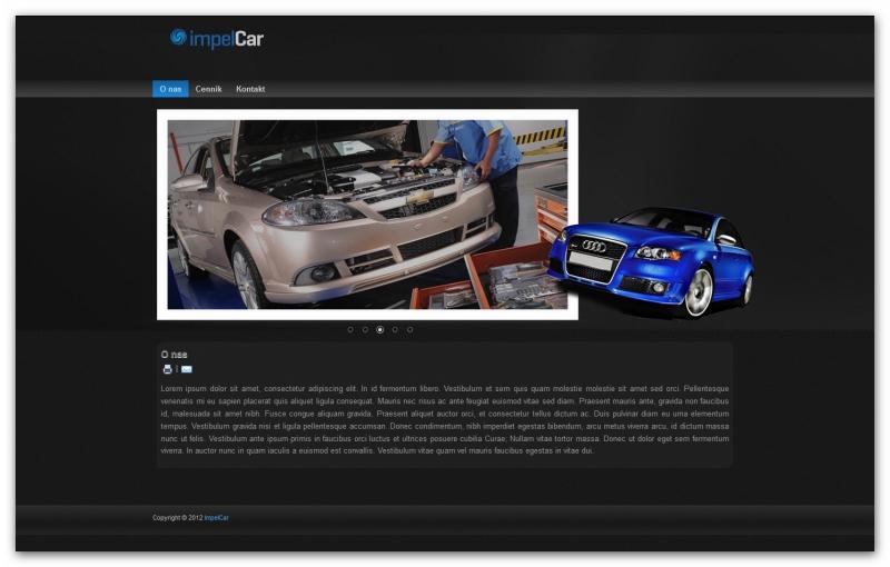 Impel Car - szablon strony www