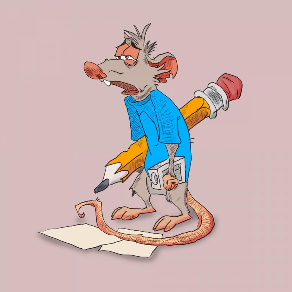 Mysz rysownik - ilustracja