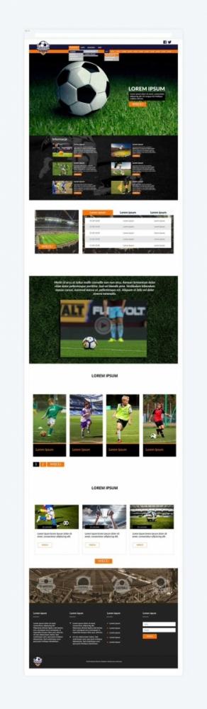 Akademia Kolejarz - szablon strony internetowej