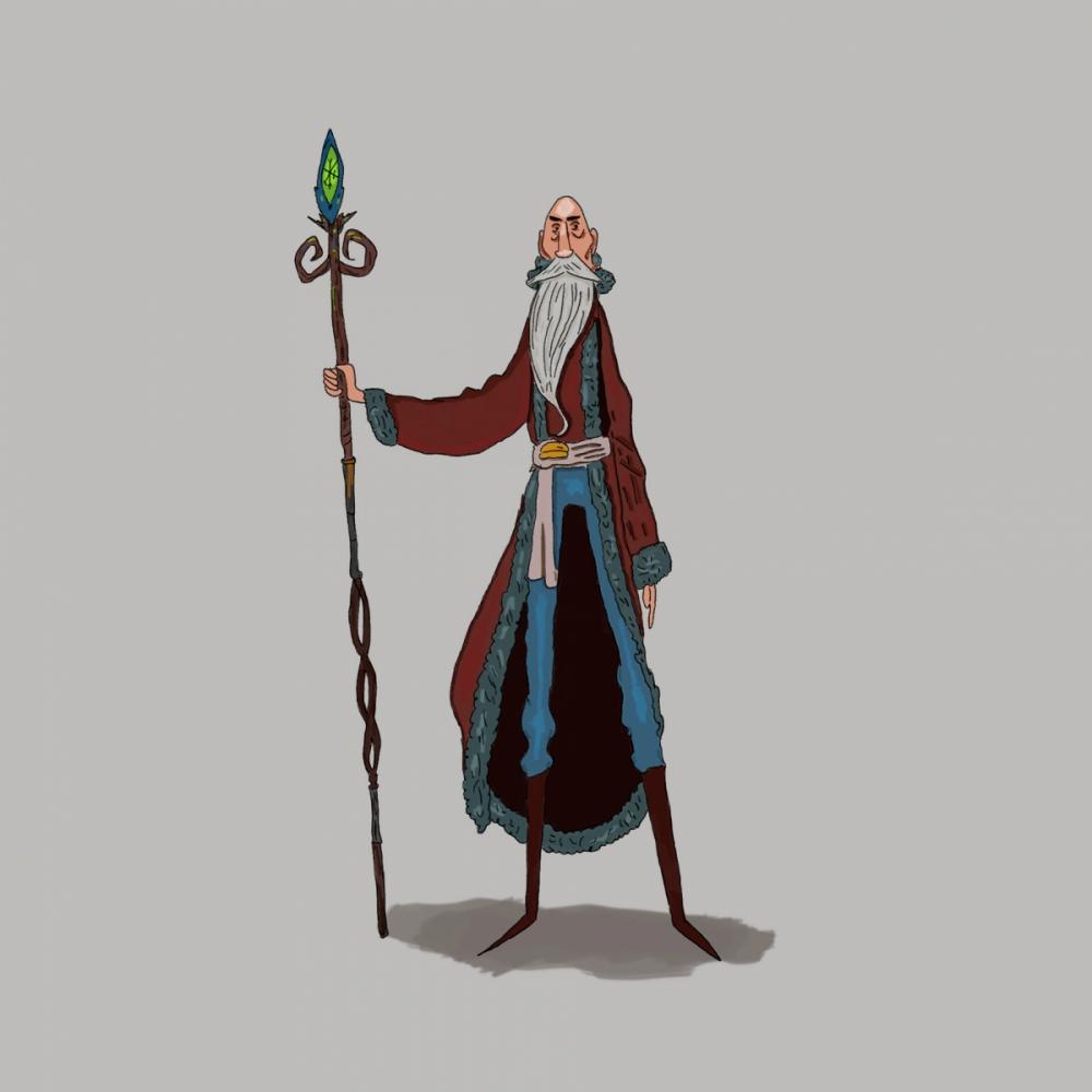 Czarownik - rysunek