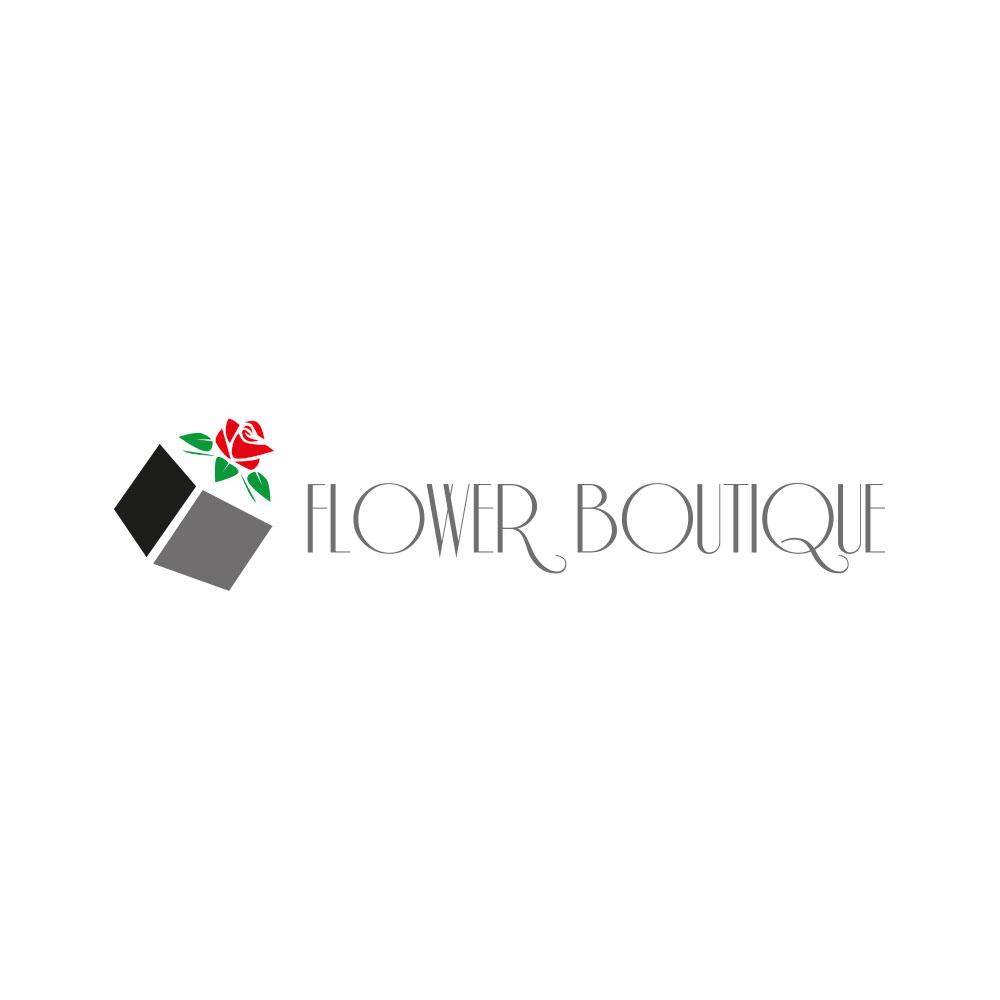 Flower Boutique logo dla butiku z kwiatami