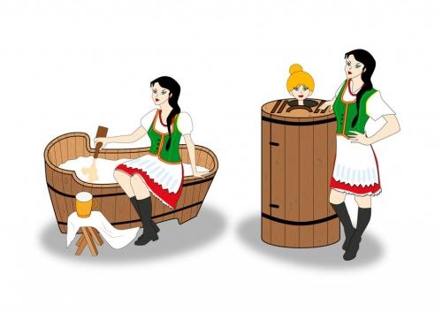 Ilustracja Spa sauna
