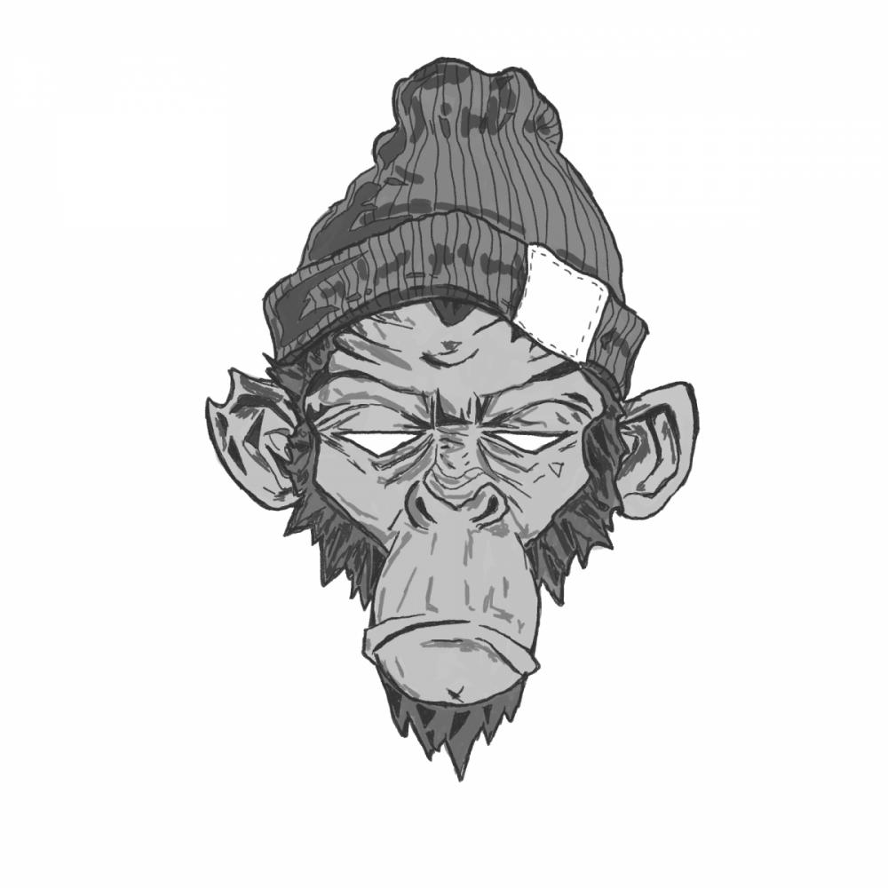 Ilustracja goryla