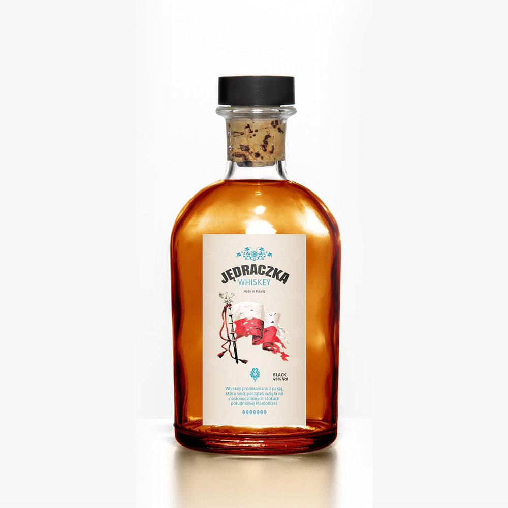 Jędraczka - projekt etykiety na whiskey