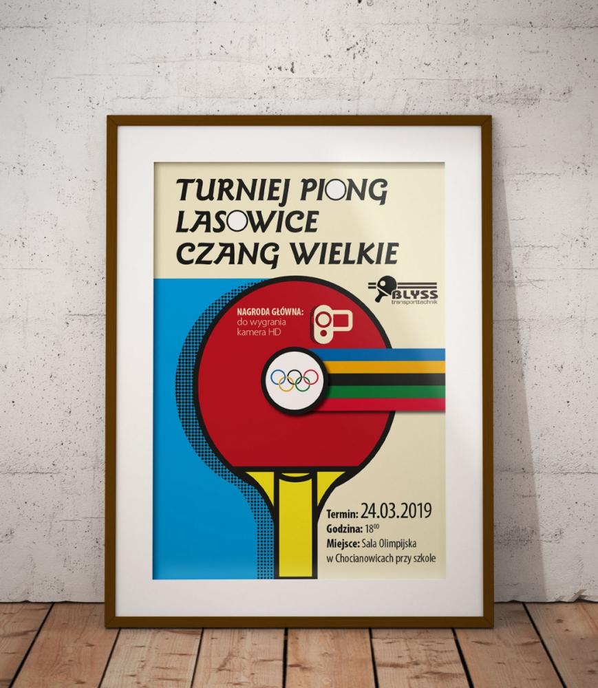 Plakat Turniej Tenisa