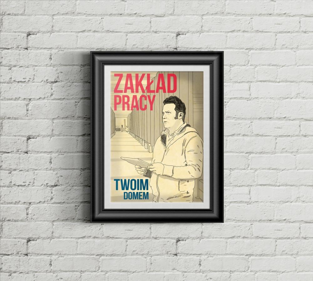 Plakat namalowany