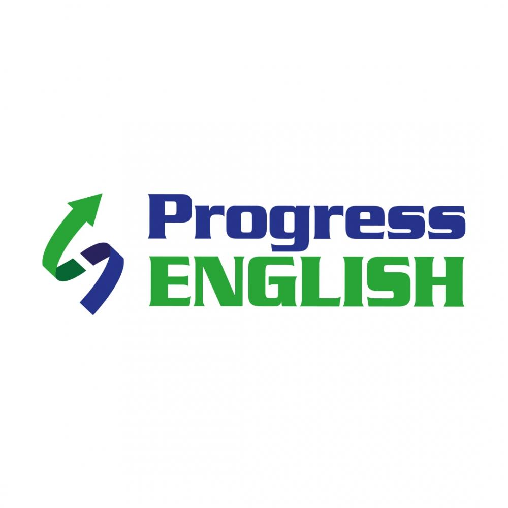 Progress English logo dla szkoły językowej