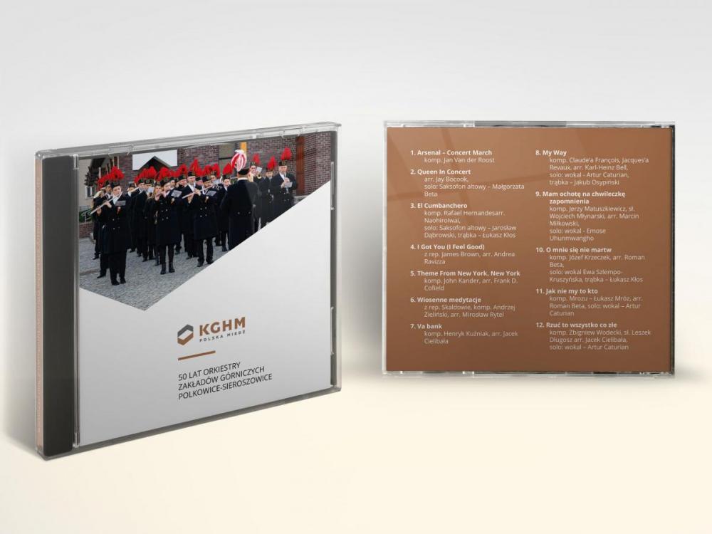 Projekt grafiki na okładkę i opakowanie płyty CD