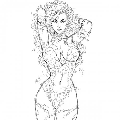 Szkic kobiety z komiksu