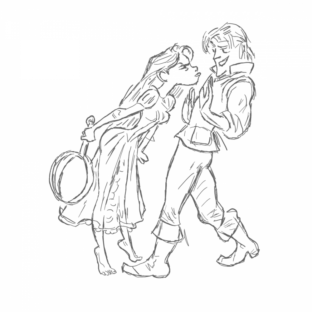 Szkic postaci z bajki