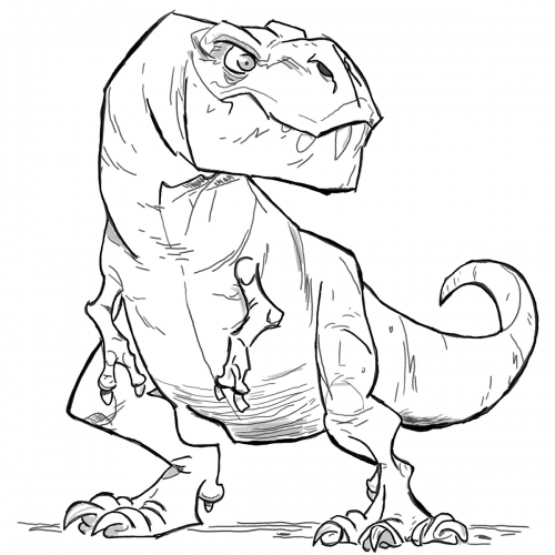 Szkic tyranozaur