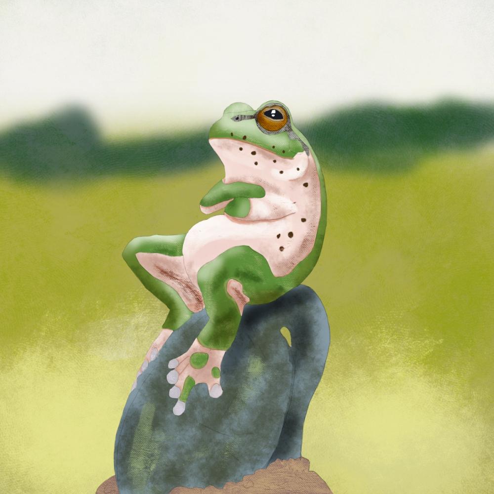 Żaba - cyfrowe malarstwo